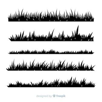 Gras rand silhouet realistische ontwerp