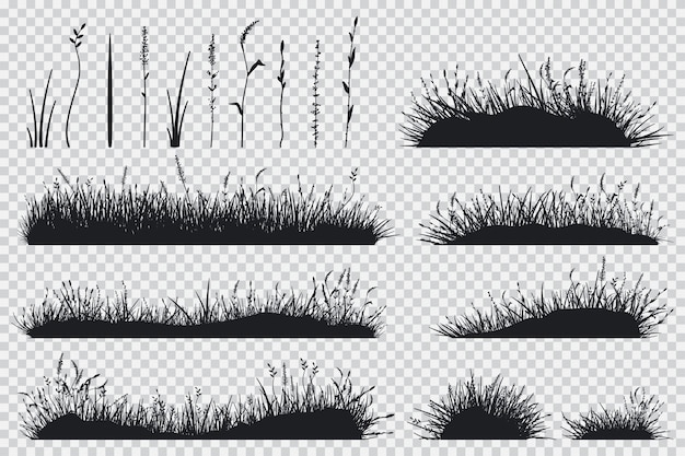 Gras zwart silhouet
