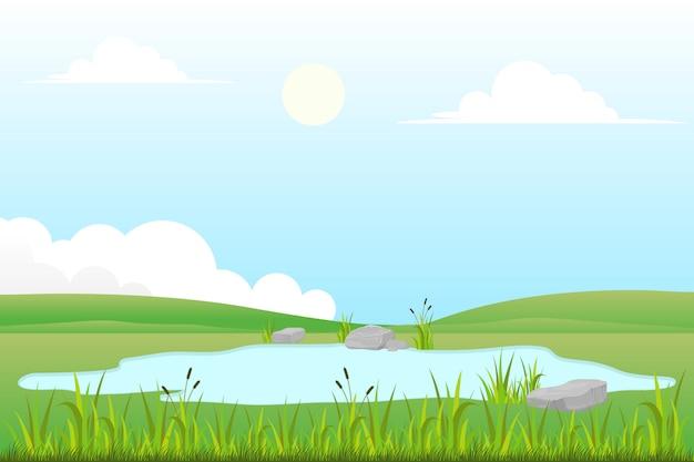 Grasland in het wild
