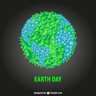 Gratis aarde dag illustratie