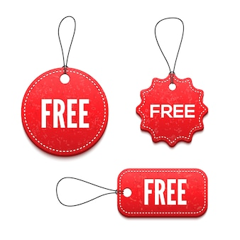 Gratis badges decorontwerp