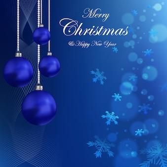 Gratis blauwe kerst achtergrond clipart