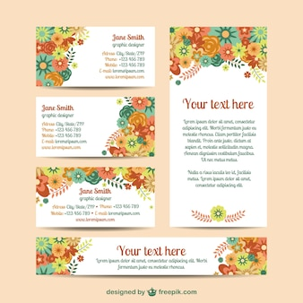 Gratis bloemen mock-up kit