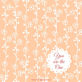 Gratis bloemen naadloos patroon