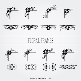 Gratis bloemen sier grafische elementen