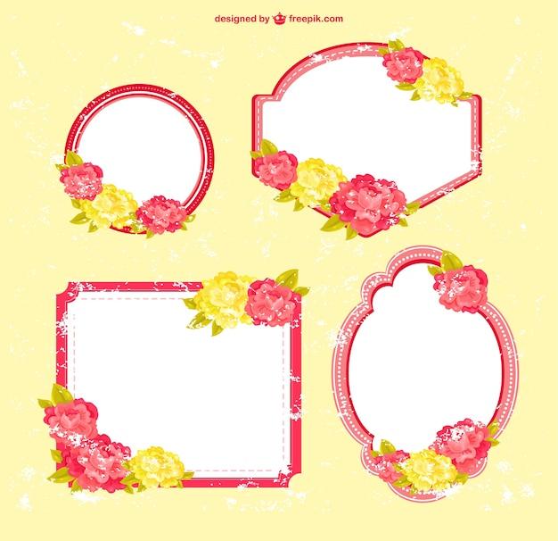 Gratis bloemenframes ontwerp