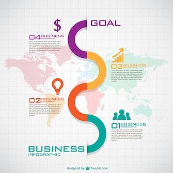 Gratis infographic sjabloon graphics