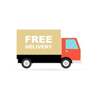 Gratis levering vrachtwagen pictogram