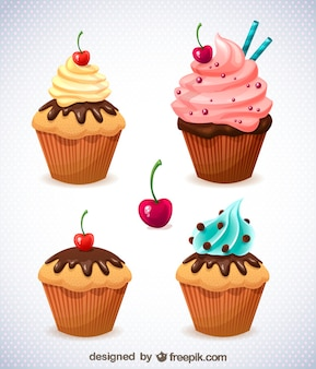 Gratis muffin vector set
