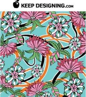 Gratis ontwerp vectoren - zomer bloemen wallpaper vector pattern