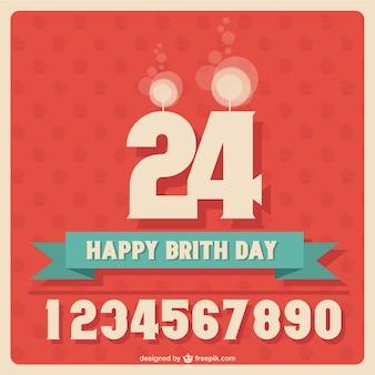 Gratis te downloaden verjaardag ontwerp