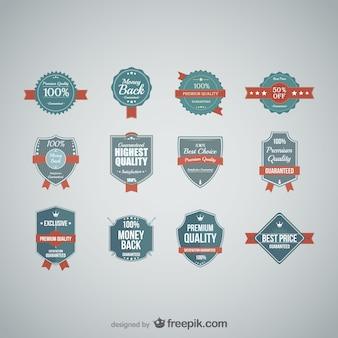 Gratis vector kwaliteit stickers