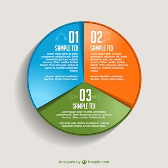 Gratis vector piechart infographic