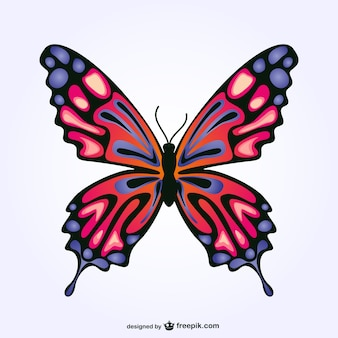 Gratis vector vlinder ontwerp