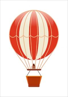 Gratis vliegende ballon geïsoleerde pictogram