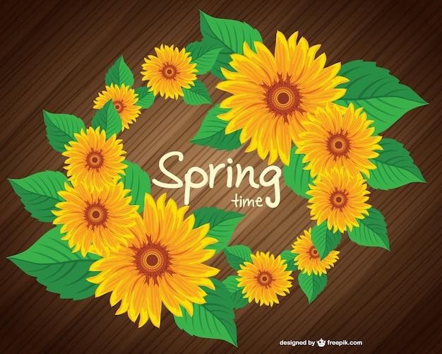 Gratis voorjaar zonnebloem ontwerp