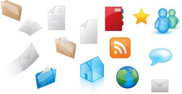 Gratis web icons vector