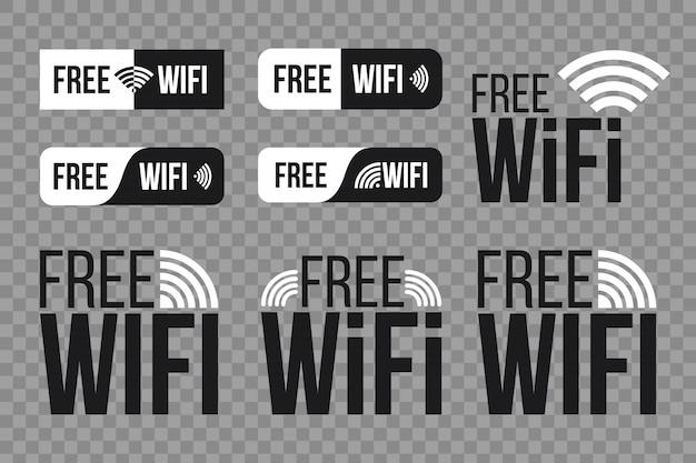 Gratis wifi, draadloos netwerk voor wlan-vrije toegang