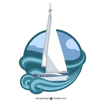 Gratis zeilboot vector kunst