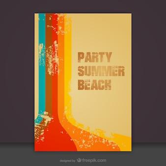 Gratis zomer uitnodiging strand teamplate