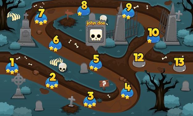 Graveyard game level map