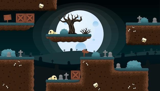 Graveyard game tileset