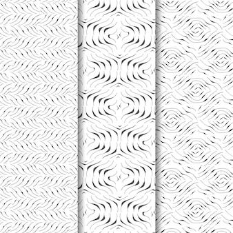 Gravure hand getrokken patroon set