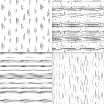 Gravure hand getrokken patrooncollectie