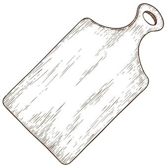 Gravure illustratie van snijplank