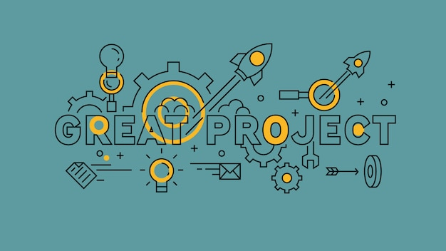 Great project flat line design