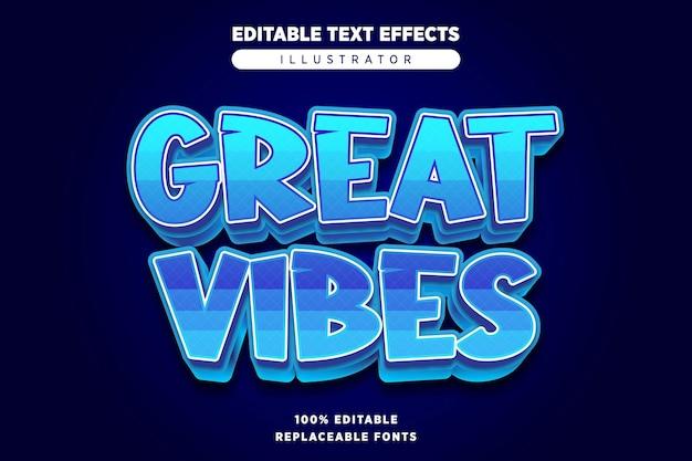 Great vibes teksteffect bewerkbaar