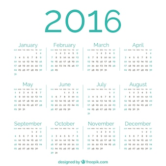 Green 2016 kalender