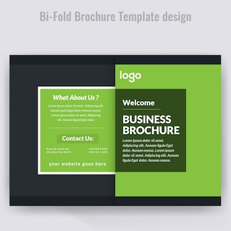 Green bifold brochure design