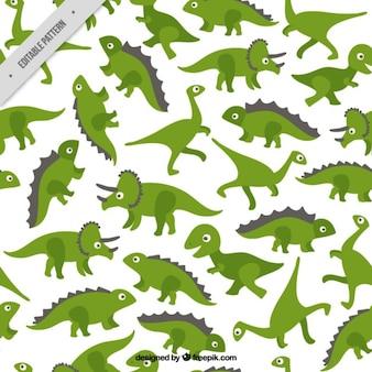 Green dinos patroon