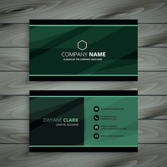 Green donker adreskaartje