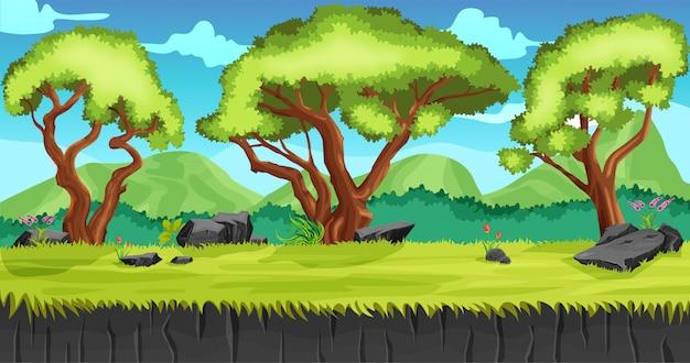 Green forest gaming-illustratie