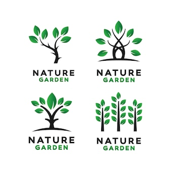 Green garden logo design inspiratie