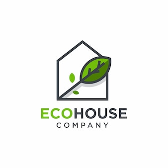 Green home logo design