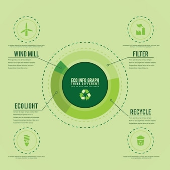 Green infographic template
