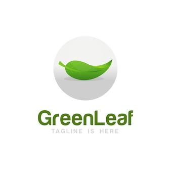 Green leaf-logo