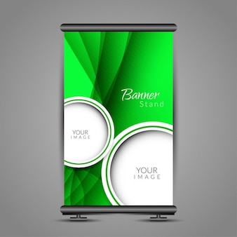 Green poster stand template