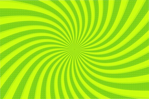Green ray achtergrond. vector stralende groene cirkel die mooi kijkt.