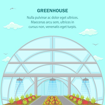 Greenhouse aquaponics system social media banner