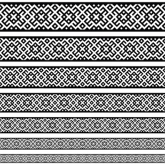 Grens decoratie elementen patronen