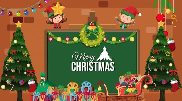 Grens met kerstthema