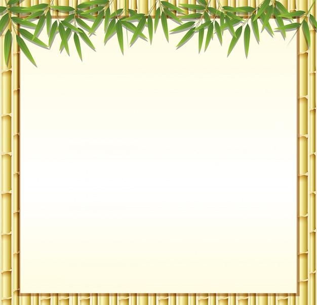 Grensmalplaatje met bruine bamboestengels