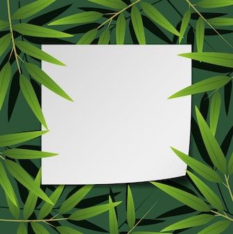 Grensontwerp met bamboebladeren