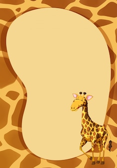 Grensontwerp met giraffe
