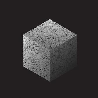 Grey grunge cube