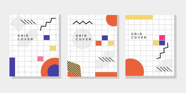 Grid cover in memphis-stijl